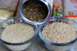 grains brown rice